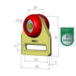 Rolka pojedyncza prosta fi 35 mm, 44-931