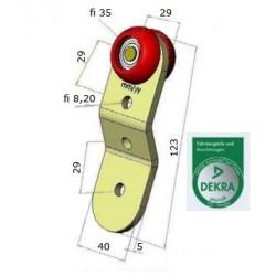 Rolka pojedyncza, zagięta 35 mm, 44-932