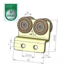 Rolka tandem, podwójnie zagięta fi 31 mm, 44-241