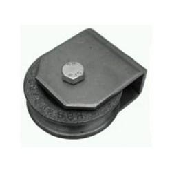 Stalowa rolka fi 80 mm  z uchwytem do linek stalowych, 28-176