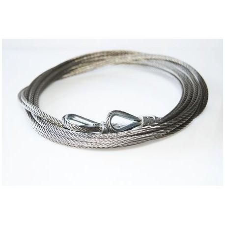 Stalowa linka nierdzewna długość 2,5 mm, zakończona obustronnie, 57-583