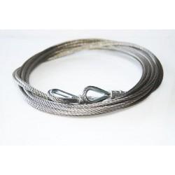 Stalowa linka nierdzewna długość 2,5 mm, zakończona obustronnie, 57-583-04