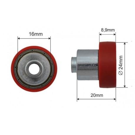 Czerwone łożysko dachu składanego fi 24mm naczepy, 052024
