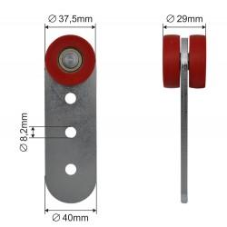 Pojedyncza rolka kurtyny bocznej fi 37 mm, 44-004