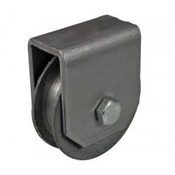 Rolka stalowa 80 mm z mocowaniem do lin stalowych, 19-114-4