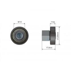 Łożysko dachu składanego naczepy fi 24 mm, 44-032