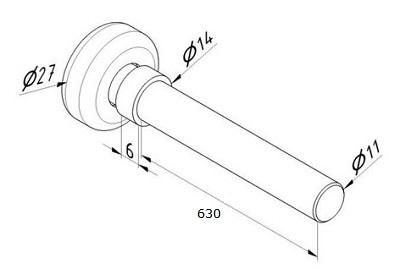 rolka do prowadnicy rolety drzwi tylnych